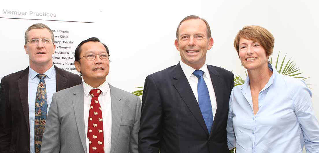 NEVS stafff with PM Tony Abbot